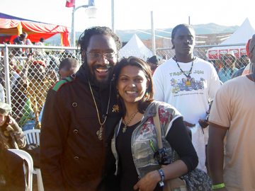 Lady K-Wida & Tarrus Riley backstage @ Rebel Salute 2009